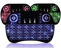 Mini Teclado Keyboard Sem Fio Wireless Luz Led Pc Smart Tv