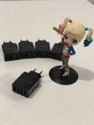 Título do anúncio: PROMOÇÃO Carregador Tomada fonte USB Turbo 4 Portas Carregador Plug Quick Charge 3.0