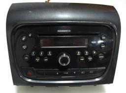 Radio Fiat 2013 a 2018 original + Par de Alto falantes 6'