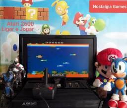 Atari VCS 2600 Polyvox Completo,Jogo de Brinde.Ligar e Jogar