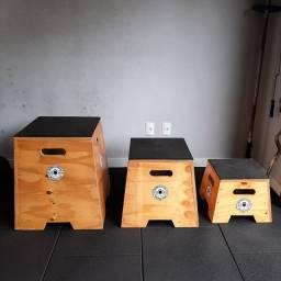 Título do anúncio: Vendo 3 caixas pliometricas