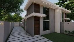 Casa linear 3Q(1suíte) area externa de 155m²