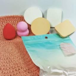 Kit com 06 esponjas de maquiagem