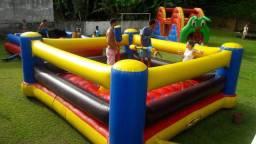 Pula pula, escorrega inflável, futsabão para todas as idades, luta de cotonetes e mais...