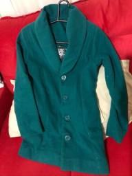 Casaco lã verde tamanho P
