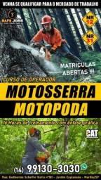 Título do anúncio: CURSO DE MOTOSSERRA E MOTOPODA