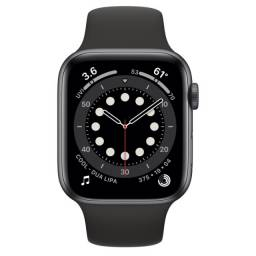 Apple Watch (GPS) Series 6 44mm Space Gray Pulseira Black NOVO