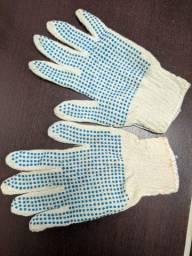 Luva de algodão pigmentada para sua segurança, tricotada