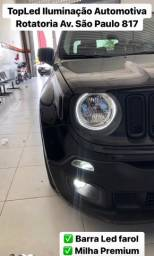 Barra de Led + Led Drl + Led Prime Jeep Renegade