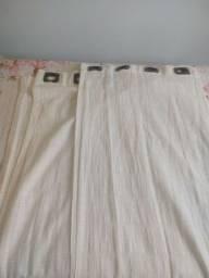 Vendo cortina com ilhós para varão tecido algodão americano cru
