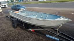 Título do anúncio: barco de aluminio  5 mts borda alta