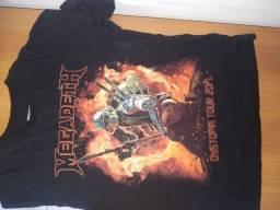 Camisa de turnê Megadeth e Accept