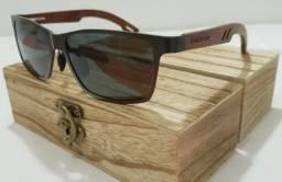 Óculos Kingseven Wood - Lentes Polarizadas