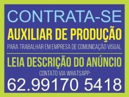 Título do anúncio: Auxiliar de Produção em Comunicação Visual