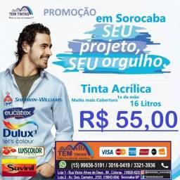 Promoção Relâmpago - Tinta Acrílica de 16 L- Cobre 1x de mão - De: R$95,00 por 55,00