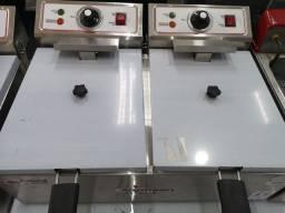 Título do anúncio: Fritadeira elétrica 2 cubas 5,5lt cada (Rodrigo)