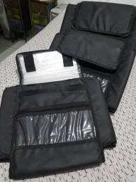 Bags para caixa de pizza de 30 cm de diâmetro. Usada para delivery.