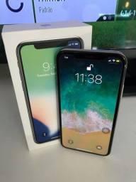 iPhone X Prata, 256gb - (MUITO NOVO), Completo - Act Cartões