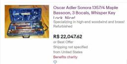 fagote alemão Oscar Adler profissional