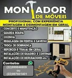 Título do anúncio: Montador de moveis