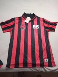Camisa Retrô Atlhetico Paranaense 95 Oséas, Renascimento do Furacão*NA ETIQUETA*