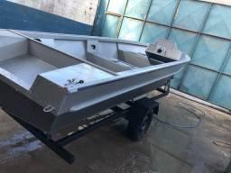 Barco alumínio borda alta c reboque