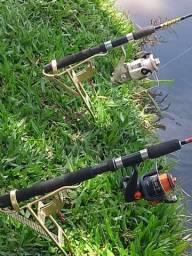 Suporte automatico de pesca pra molinete