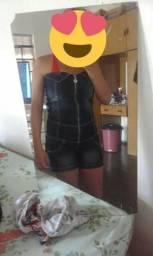 Macacao Jeans e Short