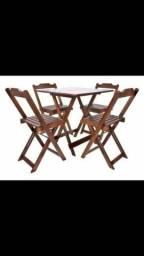 Promoção- de Conjuntos de -mesas e cadeiras- dobrável