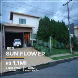 Casa Residecial Sun Flower em Anápolis 4 Quartos 2 Suites R$1,1Mi