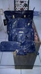 Kit bolsa azul 6 pçs