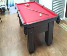 Mesa de Sinuca Cor Dakar Tecido Vermelha Mod. ERJY3339
