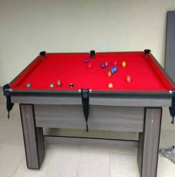 Mesa com Pedra de Ardósia Cor Dakar Tecido Vermelha Mod. PBGL0029