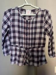 Camisa de flanela xadrez de botões TAM 3