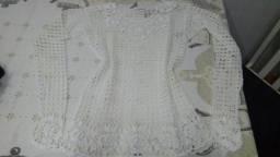 Blusa de croche branco