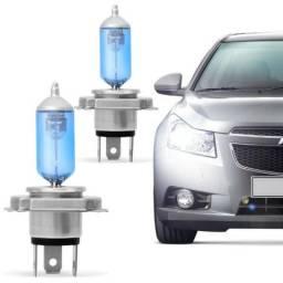 Par de lâmpadas farol super branca todos os carros