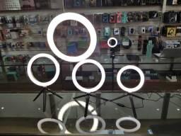 Iluminador De Led Com Tripe Ring Light Usb 16cm 3500k 5500k-(Loja na Cohab)