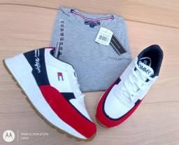 Camisa + tênis por 110 em 12x