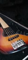 Baixo + Contra baixo Fender Deluxe Active Jazz Bass V 906 - 5c