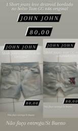1 Short jeans feminino marca JOHN JOHN original Tam GG n46 último liquidação