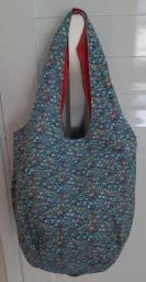 Bolsa saco em tecido - NOVA