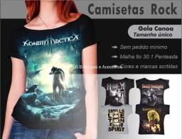 Camiseta Gola Canoa Rock-atacado