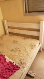 2 cama de madeira maciça 2 criado mudo