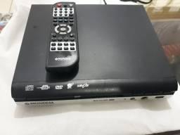 DVD player e lote de DVDs originais