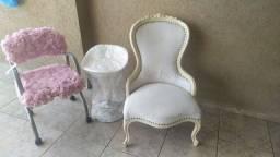 Conjunto de 2 cadeiras e 1 banco
