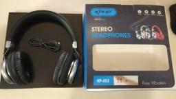 Fone Com Microfone Blueto Stereo Headphone Sem Fio Kp-452