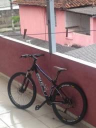 Bike aro 29 freios idraulico suspençao top toda Shimano