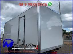 Baú frigorífico 3/4 Medidas 5.50C usado e instalado em seu caminhão Mathias implementos