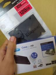 SSD 120 GB + CASE