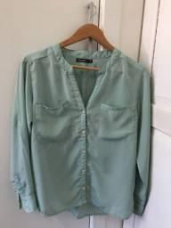 Camisa social verde Opção